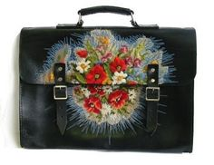 classy yet crafty: Leather & embroidery