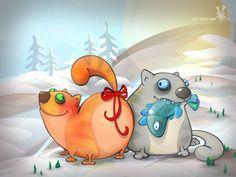 Мартовские коты (Рисунки и иллюстрации) - фри-лансер Larisa Strelkova [loris].