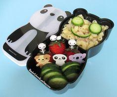 Bento Lunch: Tuna pasta, strawberries, cucumber slices. www.facebook.com/BentoSchoolLunches