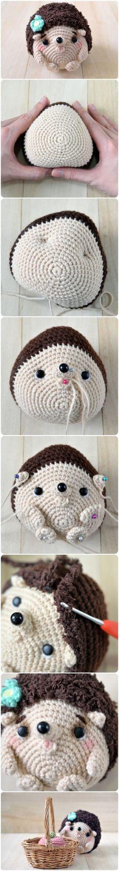 Crochet Hedgehog Free Pattern