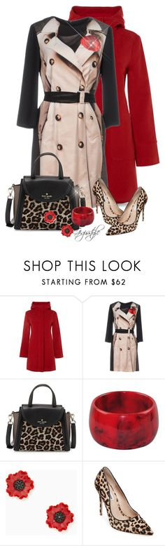 """Leopard Bag and Shoe"" by gigisstyle ❤ liked on Polyvore featuring White Stuff, Moschino Cheap & Chic, Kate Spade and Steve Madden"