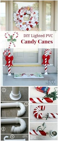 In this post, I have brought so many wonderful DIY outdoor Christmas decorations for you to try. All of them are inexpensive and easy to make. #ChristmasDecorations Diy Christmas Lights, Simple Christmas, Christmas Home, Christmas Ornaments, Diy Outdoor Christmas Decorations, Christmas Candy, Christmas Cactus, Christmas Vacation, Christmas Party Decorations Diy