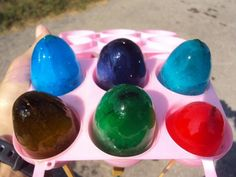 Painting with Colored Ice Eggs from Happy Hooligans