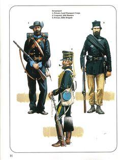 Sevastopol: 1:Private,Land Transport Corps.2:Corporal,10th Hussars.3:Private,Rifle Brigade.