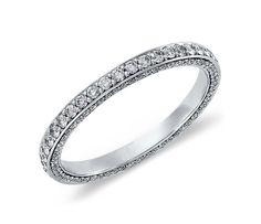 Trio Micropavé Eternity Diamond Ring in 14k White Gold (4/5 ct. tw.)