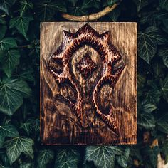 Another wood carving by my father :) #worldofwarcraft #blizzard #Hearthstone…