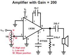 op amp schematic audio potentiometer in 2019 Hobby Electronics, Electronics Basics, Electronics Projects, Voltage Divider, Engineering Quotes, Diy Amplifier, Circuit Diagram, Dc Circuit, Audio
