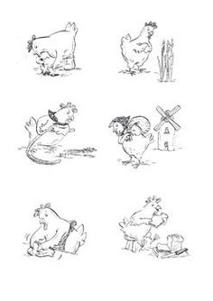 Little Red Hen black and white images. Little Red Hen Activities, Black N White Images, Black And White, Chicken Pattern, Red Chicken, Sequence Of Events, Cute Disney Drawings, Amazing Drawings, Red Fish