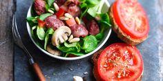 Salade de gésiers gourmande Salade Caprese, Vegetables, Food Ideas, Recipes, Cooking Recipes, Salads, Meal Ideas, Greedy People, Recipies