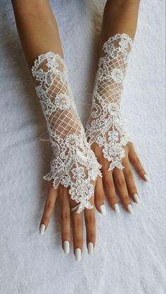 ivory wedding glove unique Original design Wedding by UnionTouch