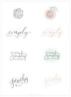 Simply Peachy - Logo and Blog Design - Saffron Avenue : Saffron Avenue: