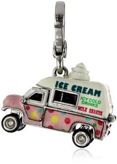 "ShopStyle: Juicy Couture ""Charms"" Silver-Tone Ice Cream Truck Charm"