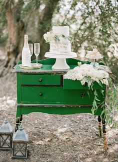 Photo from Highland Springs Resort - Styled Shoot collection by Fern Shin Fine Art Photography Wedding Cake Backdrop, Wedding Cake Display, Wedding Decorations, Wedding Cakes, Green Chest Of Drawers, Boho Wedding, Rustic Wedding, Purple Wedding, Wedding Inspiration