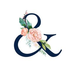 Floral Letters, Monogram Letters, Ampersand Tattoo, Flower Wallpaper, Print Wallpaper, Alphabet, Decoupage Vintage, Cards For Friends, Sewing A Button