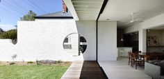 Westgarth House Architecture Board, Architecture Design, Outdoor Areas, Indoor Outdoor, Kennedy Nolan, Entry Wall, Inside Outside, Brickwork, Coastal Homes