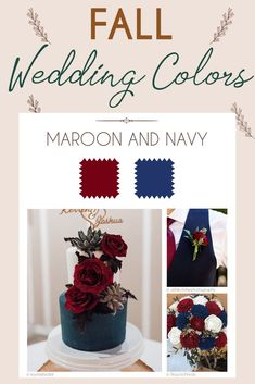 Steal These 24 Fall Wedding Colors Combo Ideas ❤ fall wedding colors palette maroon and navy #weddingforward #wedding #bride