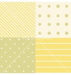 Set of 4 seamless patterns vector  - by kondratya on VectorStock®