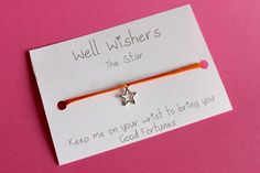♥ The message on the card is inspired by the charm and what it symbolises. For example : The Star Bracelet Good Fortune, Travel Gifts, Party Favors, Birthdays, My Etsy Shop, Bring It On, Place Card Holders, Messages, Make It Yourself