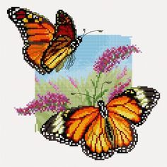 Butterflies (Free cross stitch pattern)