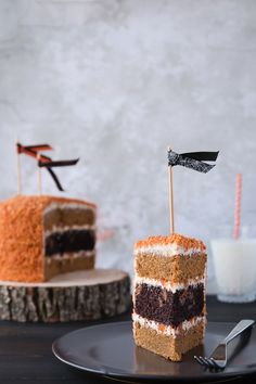 Chocolate & Pumpkin Oreo Layer Cake with Brown Butter & Cinnamon Cream Cheese Frosting