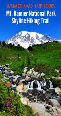 The Skyline Trail in Washington is miles round-trip and gains in elevation. It combines all the best the area has to offer: wildflowers, waterfalls, creeks, glaciers and up-close views of Mt. Washington Nationals Park, Washington State, Washington Hiking, Cool Places To Visit, Places To Go, Mt Rainier National Park, Art In The Park, North Cascades, Us National Parks