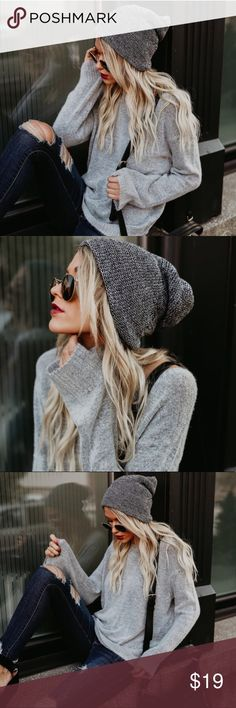 New Preorder Comfy Slouchy Hat New Preorder Comfy Slouchy Hat  New Preorder Comfy Slouchy Hat  Arriving next week - Order Now & will Ship Next Week   Oatmeal available in separate listing  Color: Black & White  Size: One Size  Material: 100 % Acrylic sarrah Accessories Hats