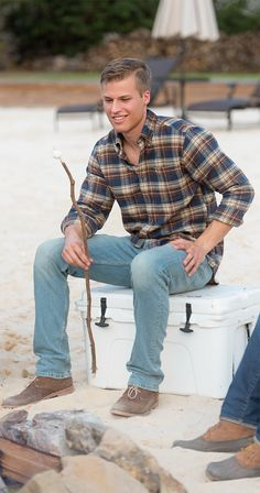 Look good and stay toasty in our NEW Flannel Button Downs! (Pictured: Cedar Point Flannel) #buttondown #flannel #ootd #fashion #trendy #classic #shopnow #enjoythegoodlife #southernshirt