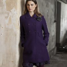 Suzy Ladies Double Breasted Winter Coat from Ness Clothing