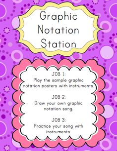 Elementary Music Resources: Centers: Graphic Notation Station