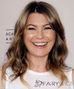 Ellen Pompeo Medium Wavy Casual Hairstyle - Light Brunette Hair Color with Dark Blonde Highlights El Best Human Hair Wigs, Human Wigs, Light Brunette Hair, Dark Hair, Brown Hair, Hair Styles 2014, Medium Hair Styles, Casual Hairstyles, Easy Hairstyles