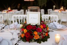 Mixed Vibrant Colour Moroccan Atlas Roses Centre Table Decorations