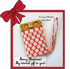 Make the perfect Christmas gift this year with this Christmas iPhone Wristlet. This would make a fantastic present for your grandkids this Christmas season. Choose festive colors like red and green for your project. DIY phone holders are so much cheaper than buying them at the store.