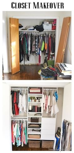 This could work in your bedroom closet, @Janet Way. The shelves could be on the far right, without the smaller drawers in the picture and so it won't block the attic access. :)