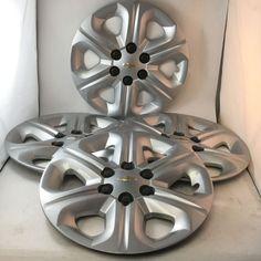 Set 4 Silver OEM Chevy Traverse Wheel Covers Bolt on Wheel Covers 9597564 Chevy, Chevrolet, Hub Caps, Wheel Cover, Oem, Silver, Ebay, Money