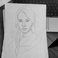 drawing katniss everdeen from thr hunger games. Hunger Games Drawings, Katniss Everdeen, Jennifer Lawrence, Female, Drawing Ideas, Paintings, Art, Ideas For Drawing, Art Background
