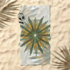 Leafy Wreaths Beach Towel by weivy Pattern Flower, Presents For Friends, Good Cause, Beach Towel, Wreaths, Gift Ideas, Personalized Items, Digital, Water