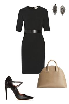 """They say you should dress for the job you want. A fitted dress and an intimidating pair of pumps scream """"business mogul,"""" so start prepping for your days as the future CEO of Google.  Stella McCartney Andra Stretch-Cady Dress, $2,340; net-a-porter.com Tabitha Simmons Mari, $795; tabithasimmons.com Matt and Nat Nemesis, $158; mattandnat.com Monique Péan Diamond, White Gold & Herkimer Stud Earrings, $4,750; barneys.com   - ELLE.com"""