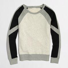 Factory colorblock sweatshirt : sweatshirts & cardigans | J.Crew Factory