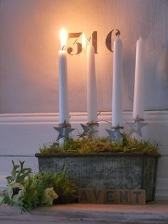 Bougies blanches La source d'Angèle