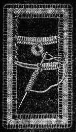 FIG. 700. BAR WITH PICOT MADE IN BULLION STITCH.