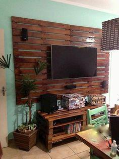 base de madera para poner la tv