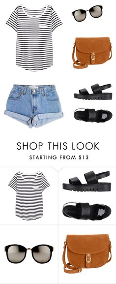 Look Básico 02 by designer-couto on Polyvore featuring moda, H&M, Jeffrey Campbell, Emma Fox, Linda Farrow and Levi's