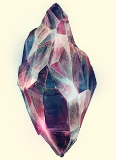 I can't tell if this is a photoshoped rock of a vector rock. It looks like a stylize rock/gem. Whatever the method the colors are beautiful and blend well together. The rock has some transparent spots, which makes it look real and see through. Texture on this rock is also well done. It looks like I can feel the jagged and smooth edges on this rock.