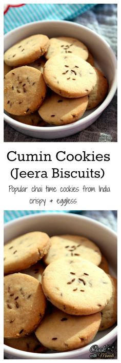 and Salty Cumin Cookies, perfect with Chai!Sweet and Salty Cumin Cookies, perfect with Chai! Indian Desserts, Indian Snacks, Indian Food Recipes, Indian Sweets, Eggless Recipes, Eggless Baking, Tea Cakes, Biscotti, Indian Cookies