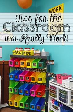 Tips for the classroom that you can really use to prepare for back to school time!