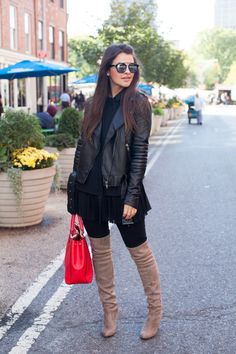 Leather in Union Square — pink champagne problems