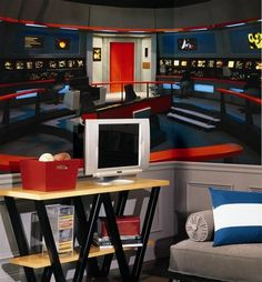 Seriously - giant stickers can make your room look like the Enterprise!!! Bring. Star Trek ... & Star Trek Classic TV Series Cast Peel u0026 Stick Large Wall Sticker ...