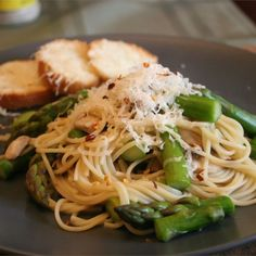 "Pasta with Asparagus | ""This is a great low-fat pasta dish."" #recipe #spring"