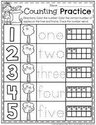 Resultado De Imagen Para Numbers 1 5 Worksheets Kindergarten