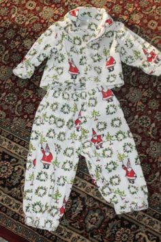 Garnet Hill Boys Girls Christmas Pajamas Fleece 2T Worn Once Holiday Santa | eBay